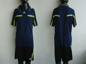 maillot arbitre equipement noir bleu