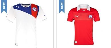 maillots du Chili 2013