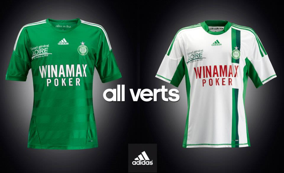 Maillots foot ASSE 2013