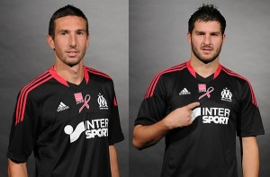 Olympique Marseille 2012 maillot foot collector cancer