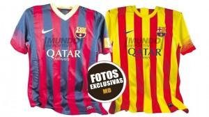 barcelone maillots foot exterieur et domicile 2013 2014