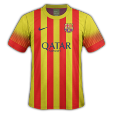 Maillots de foot barcelone 2013 2014 for Maillot exterieur barcelone 2014