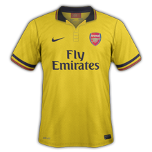 arsenal exterieur 2013 2014