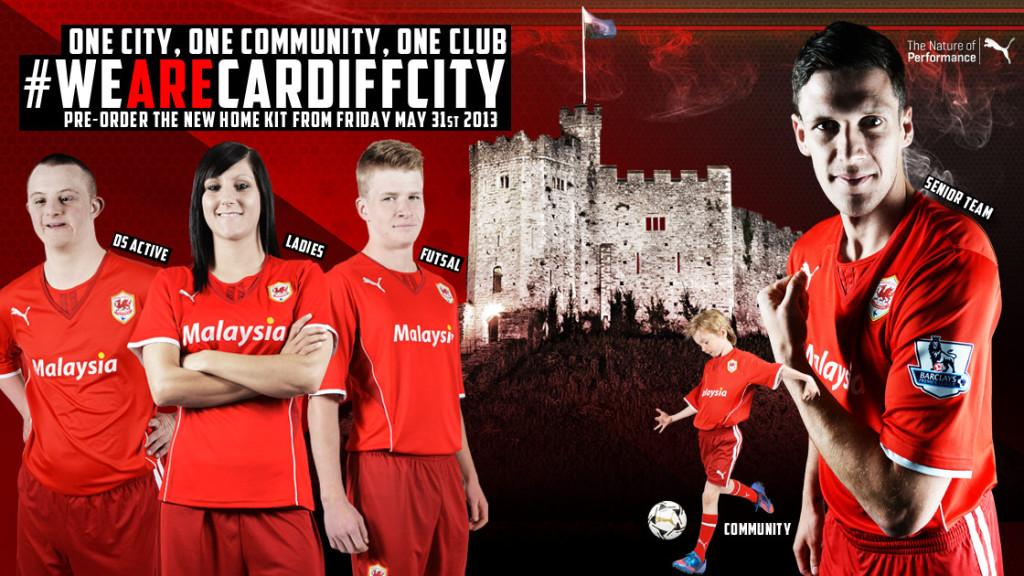 Maillot Domicile Cardiff City