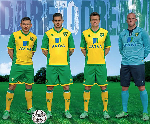 Maillot Home Norwich