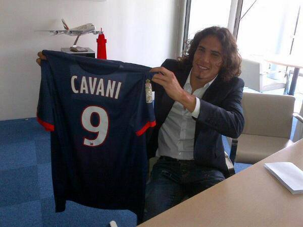 Cavani au Paris Saint-Germain
