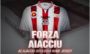 Ajaccio maillot domicile 2014