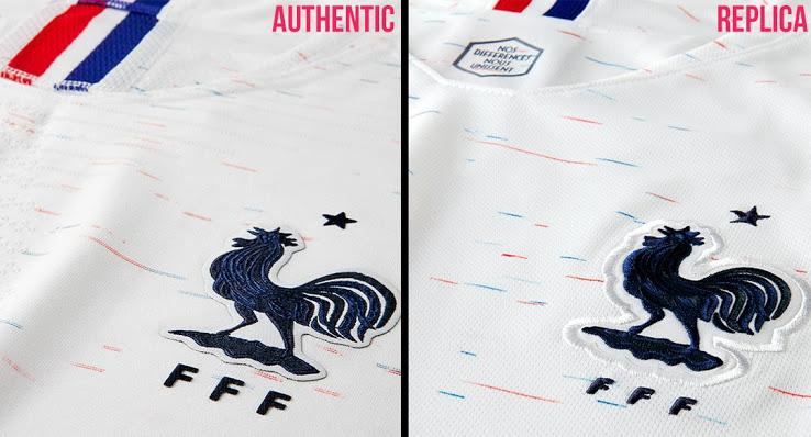 Nike authentic vs replica France 2018