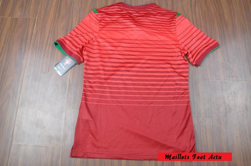 portugal dos du maillot domicile football 2014 rouge