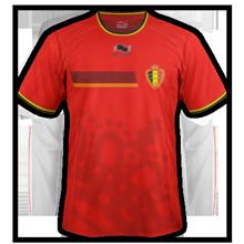 maillot domicile Belgique 2014 coupe du monde