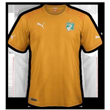 Cote d'Ivoire 2014 maillot domicile CAN 2015