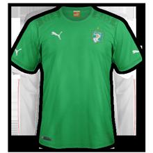 Cote d'Ivoire 2014 maillot extérieur CAN 2015
