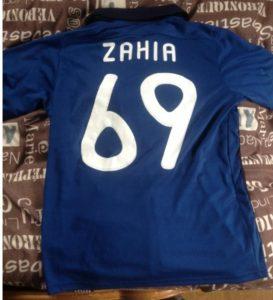 flocage Zahia maillot France