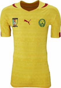 Cameroun 2014 maillot de foot extérieur coupe du monde