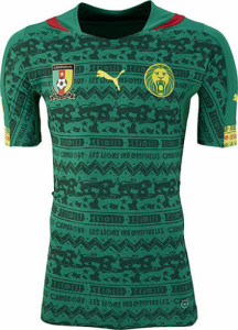 Cameroun 2014 maillot foot domicile