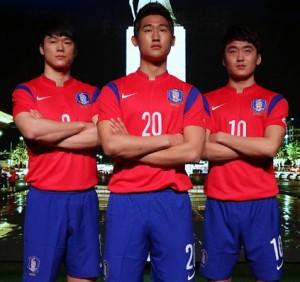 maillot foot Corée du sud 2014 domicile coupe du monde officiel