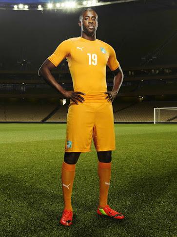 Cote d'Ivoire 2014 2015 maillot domicile Yaya Toure