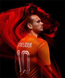 Pays-Bas 2014 Hollande maillot foot domicile coupe du monde Sneijder