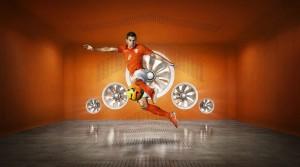 Pays-Bas 2014 Hollande maillot foot domicile coupe du monde Van Persie