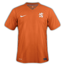 Hollande maillot foot domicile coupe du monde 2014