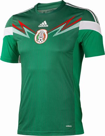Mexique 2014 maillot domicile coupe du monde
