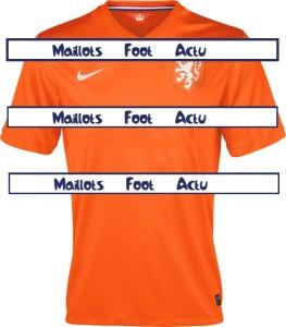 Pays-Bas 2014 maillot foot domicile mondial Hollande (sans dégradé)