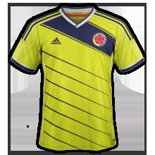 colombie 2014 domicile maillot coupe du monde