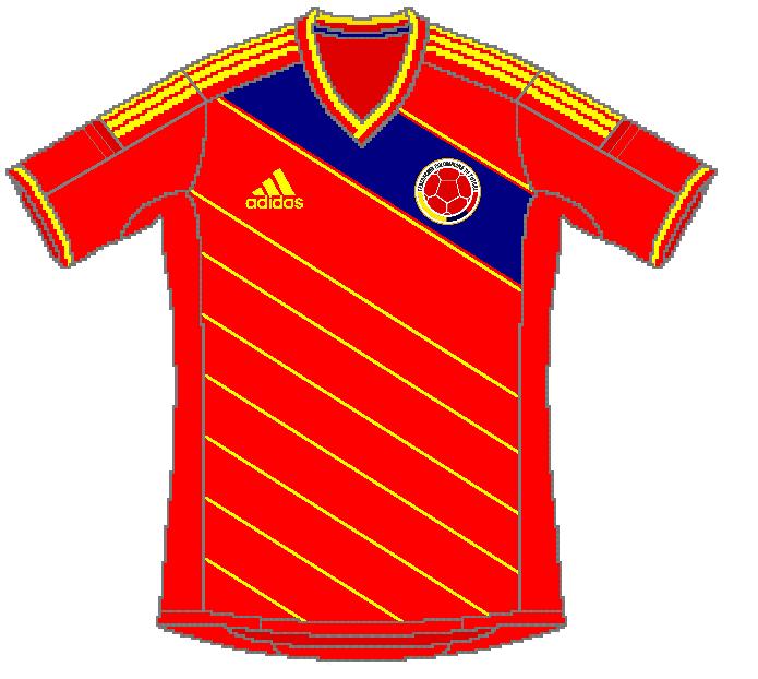 colombie maillot exterieur adidas coupe du monde 2014