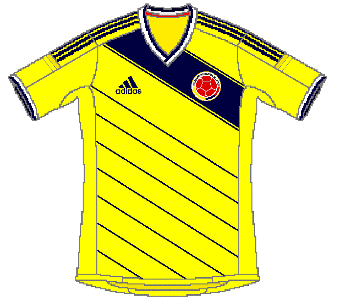colombie maillot foot domicile coupe du monde 2014