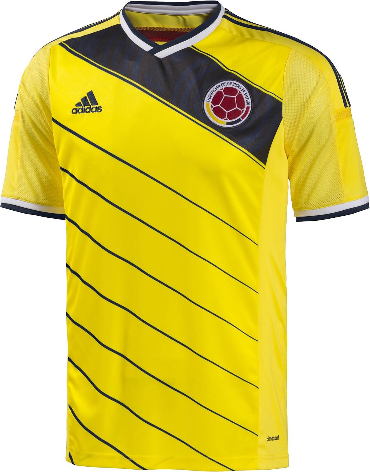 maillot domicile colombie coupe du monde 2014