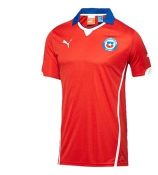 Chili 2014 maillot foot domicile coupe du monde