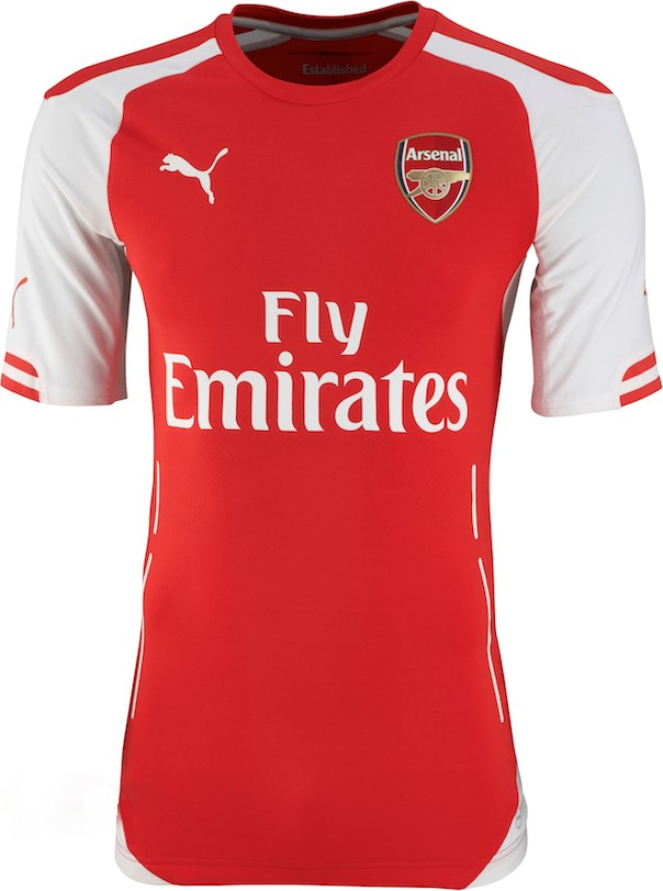 Maillots arsenal 2014 2015 maillots foot actu for Arsenal maillot exterieur 2013