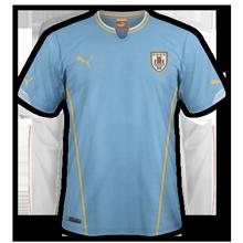 Uruguay 2014 maillot domicile officiel coupe du monde