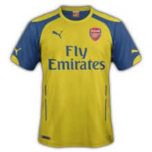 Arsenal maillot foot ext rieur 2015 maillots foot actu for Arsenal maillot exterieur