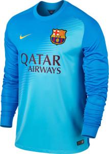 Barcelone 2015 maillot gardien exterieur bleu ciel