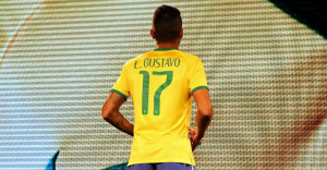 Brazil 2014 dos maillot domicile coupe du monde GUSTAVO