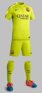 barcelone 2015 troisieme tenue maillot de foot short chaussettes 2014 2015