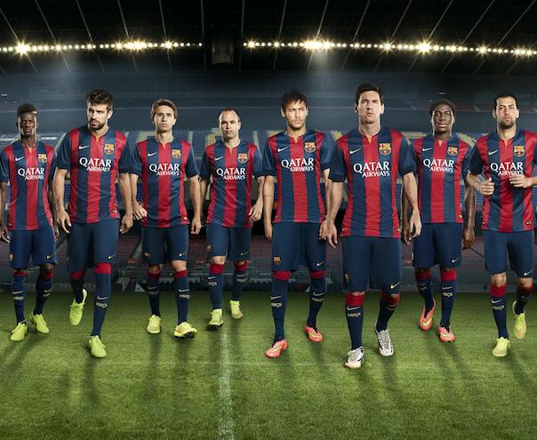 maillot domicile Barcelone 2015 officiel