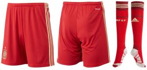 shorts et chausettes Espagne 2014 domicile coupe du monde