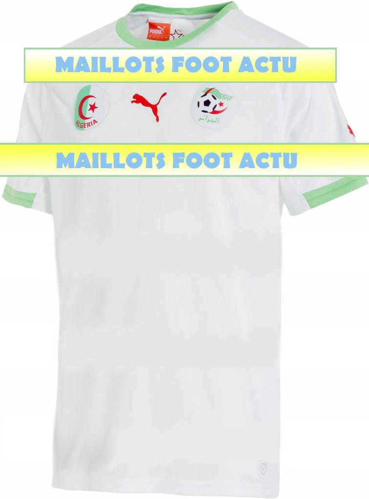 Algérie 2014 maillot coupe du monde domicile