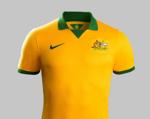 Australie exterieur maillot foot 2014