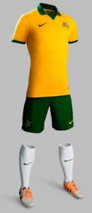 Australie exterieur maillot foot 2014 tenue