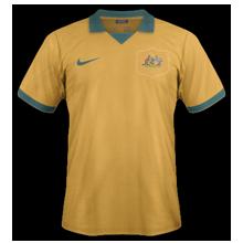 Australie maillot foot domicile coupe du monde 2014 صور تيشرتات كل منتخبات كأس العالم 2014