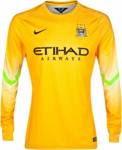 Manchester City 2014 2015 maillot gardien jaune