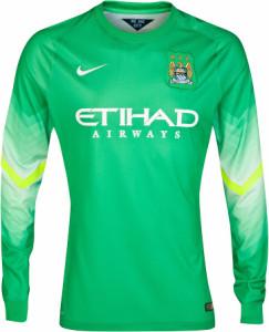 Manchester City 2014 2015 maillot gardien vert