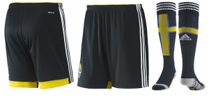 Suède extérieur 2014 short chaussettes football