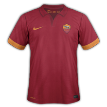 maillot foot domicile AS Roma 2015