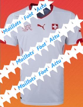 Suisse maillot extérieur 2014 coupe du monde