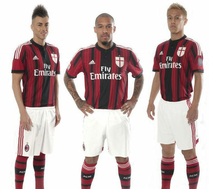 AC Milan maillot dfootball domicile 2015 officiel