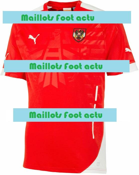 Autriche 2014 domicile maillot foot